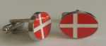Denmark Country Flag Cufflinks